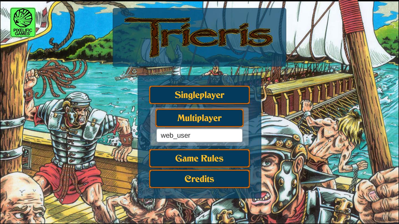 Trieris main game screen