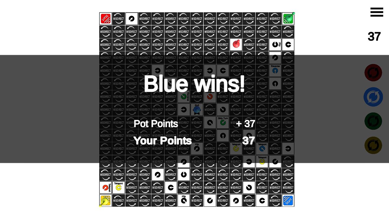 MiSDIRECT winning screen